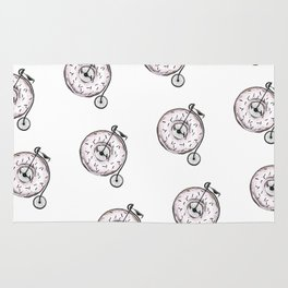 Donut Ride My Bicycle Rug