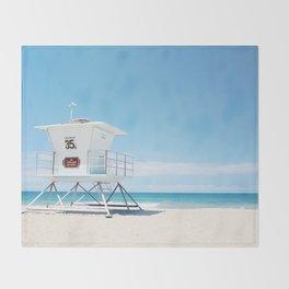 Lifeguard tower Carlsbad 35 Throw Blanket