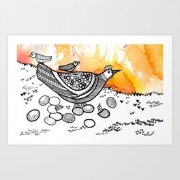 Animal series - HEN Art Print