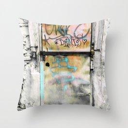 One Door at Plaka-Athens Throw Pillow
