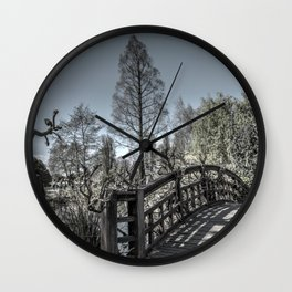 A view of the Japanese garden at the Regent Park in London, UK Wall Clock