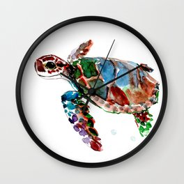 Baby Sea Turtle Wall Clock