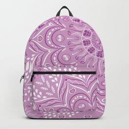 Purple, Lilac and White Mandala Backpack