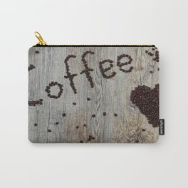 Love Coffee in Beans - Cafe or Kitchen Decor Carry-All Pouch