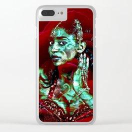 ORIENTAL ROSE Clear iPhone Case