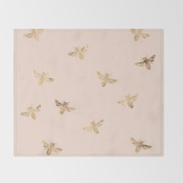 Busy Bees (Pink) Throw Blanket