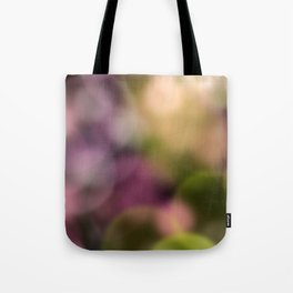 Contemporary Bokeh Dots Design Tote Bag