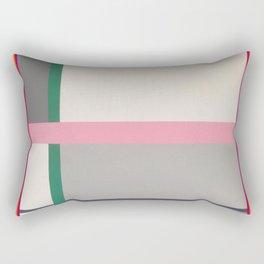 Green line - color square Rectangular Pillow