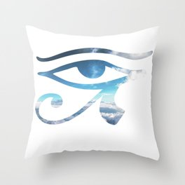 Eye of Horus Sky Background Throw Pillow
