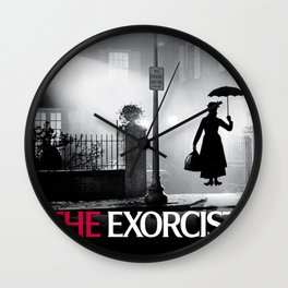 Mary Poppins in the Exorcist Wall Clock