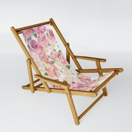 Flowers, Floral Explosion, Floral Pattern, Pink Flowers Sling Chair