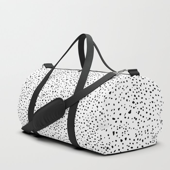 spotty dotty in black and white Duffle Bag