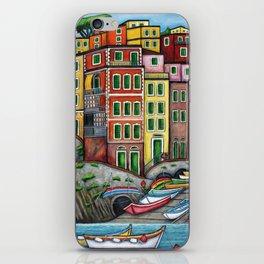 Colours of Riomaggiore iPhone Skin