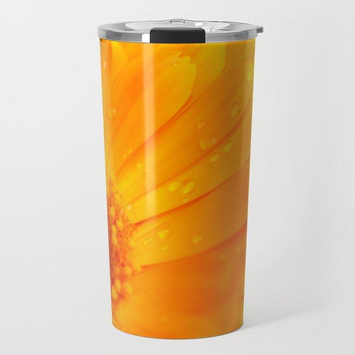 orange flower. macro Travel Mug