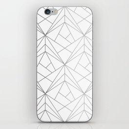 Geometric Silver Pattern iPhone Skin