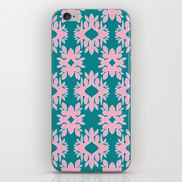 Katherine - Digital Symmetrical Abstract in Pink and Teal iPhone Skin