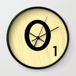 Scrabble O - Large Scrabble Tile Letters Wall Clock