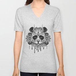 Blacksilver Panda Spirit Unisex V-Neck
