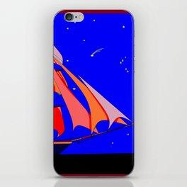 A Clipper Ship at Sea Full Sail at Night under the Stars iPhone Skin