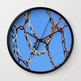 Rusty Chains Wall Clock