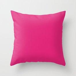 Deep Cerise Cubic Throw Pillow