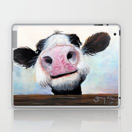Nosey Cow ' HEY! HOW'S IT GOIN'? ' by Shirley MacArthur Laptop & iPad Skin