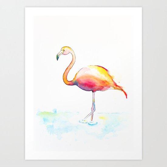 Flamingow Art Print