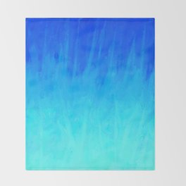 Icy Blue Blast Throw Blanket