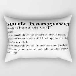 Book hangover defintion Rectangular Pillow