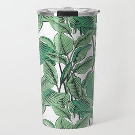 Exotic Tropical Banana Palm Leaf Print Travel Mug