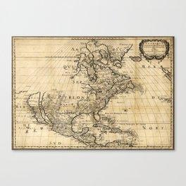Amerique Septentrionale, Map of North America (1650) Canvas Print