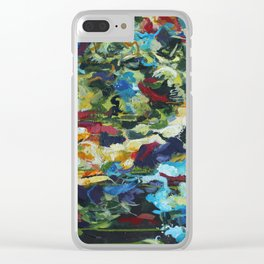 Fighting Fall Clear iPhone Case