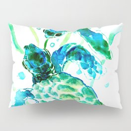 Sea Turtles, Turquoise blue Design Pillow Sham