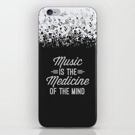 Music Medicine Mind Quote iPhone Skin