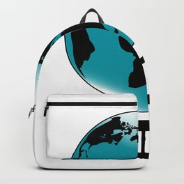 Mounted Globe On Rotating Swivel Backpack