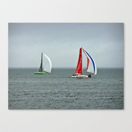 part 4 of 4 of Sailing Battle 42-56  - Transat Quebec St-Malo Canvas Print