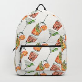Classic Cocktails  – 1960s Watercolor Lineup Backpack