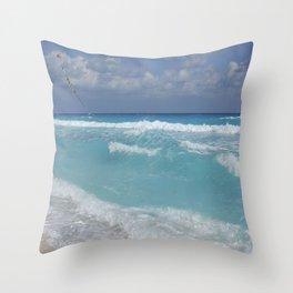 Carribean sea 3 Throw Pillow