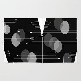 Atomic Space Age Black Rug