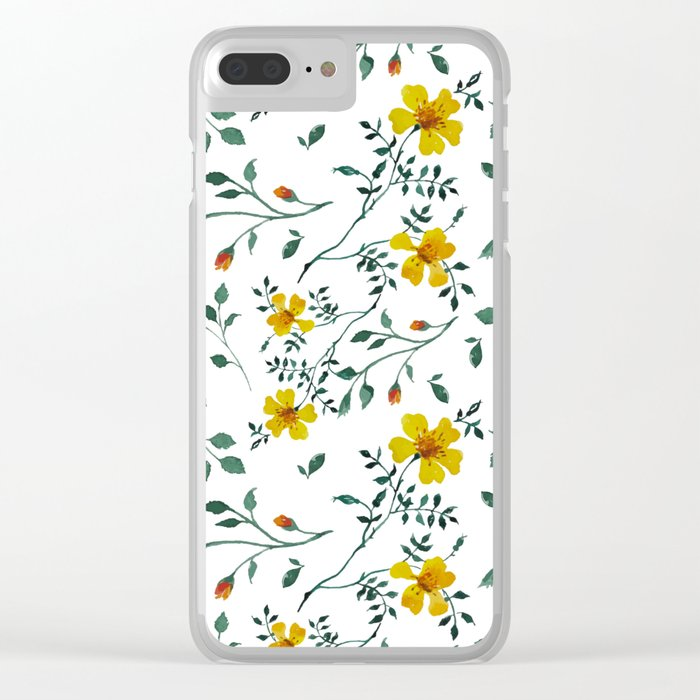 Little yellow flowers Clear iPhone Case