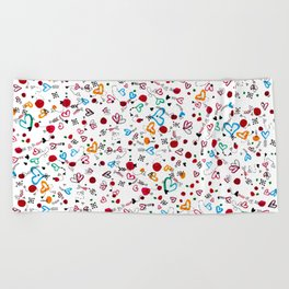 Lonely hearts Beach Towel