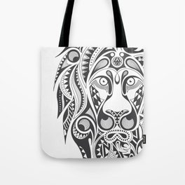 Lion | Abstract Digital Design Tote Bag