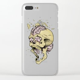 Brain Overload Explosion Clear iPhone Case