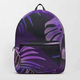 Purple palm leaves Backpack