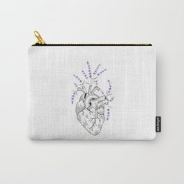 Lavender Human Heart Carry-All Pouch