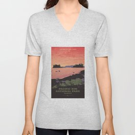 Pacific Rim National Park Reserve Unisex V-Neck