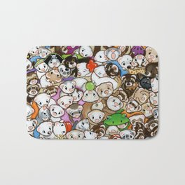One Hundred Million Ferrets Bath Mat