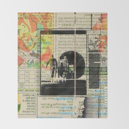 Rauschenberg Rumble (for Hip Kidds) Throw Blanket