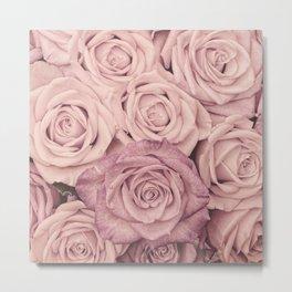 Some People Grumble - Pink Rose Pattern - Roses Metal Print