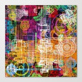 Grunge tech print Canvas Print
